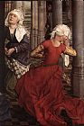 Rogier van der Weyden Seven Sacraments Altarpiece central panel [detail 2] painting